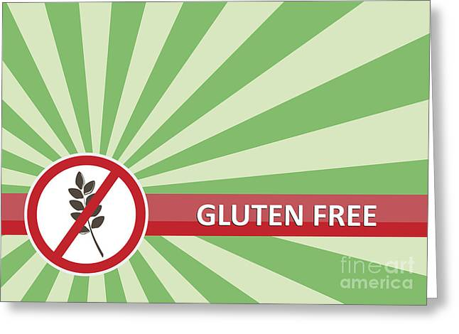 Food Safe Greeting Cards - Gluten Free Banner Greeting Card by Tim Hester