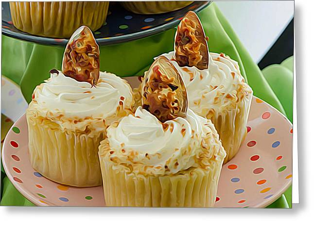 Gluten Free Greeting Cards - Gluten Free Cupcakes Greeting Card by Michael Moriarty