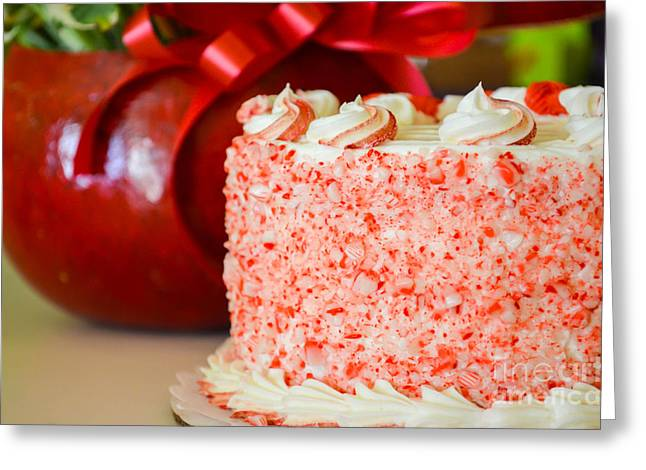 Gluten Free Greeting Cards - Gluten Free Peppermint Cake Greeting Card by Michael Moriarty