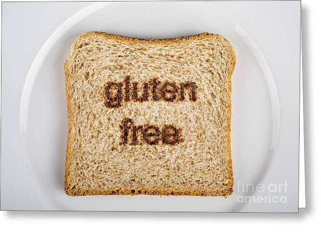 Eat Free Greeting Cards - Gluten-Free Greeting Card by Tony Priestley