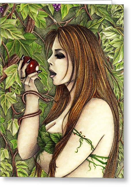 Eden Pastels Greeting Cards - Gluttony Greeting Card by Maena Bartolomei