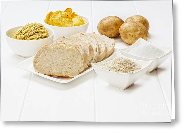 White Bread Greeting Cards - Glycemic Index High GI Foods Greeting Card by Colin and Linda McKie