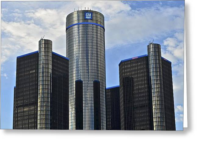 Dealership Greeting Cards - GM Building Greeting Card by Frozen in Time Fine Art Photography