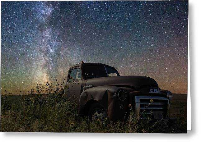 Old Truck Photography Greeting Cards - Gmc Greeting Card by Aaron J Groen
