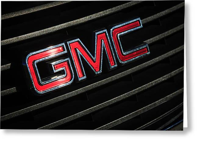 Gmc Greeting Cards - GMC Emblem - 1634c Greeting Card by Jill Reger