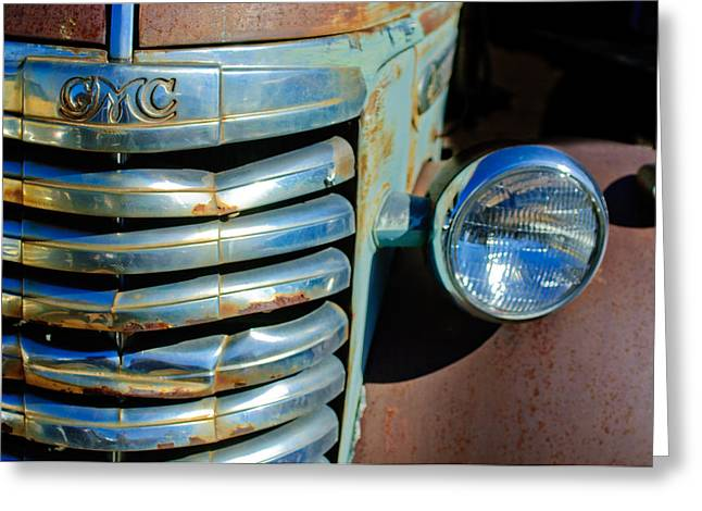 Gmc Greeting Cards - GMC Truck Grille Emblem Greeting Card by Jill Reger