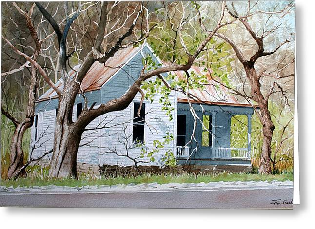Gnarly Paintings Greeting Cards - Gnarly House Greeting Card by Jim Gerkin