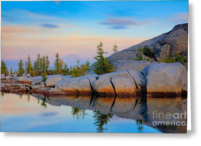 Geology Photographs Greeting Cards - Gnome Tarn Rocks Greeting Card by Inge Johnsson