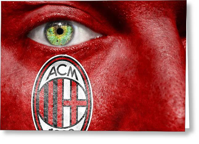 Serie Greeting Cards - Go AC Milan Greeting Card by Semmick Photo