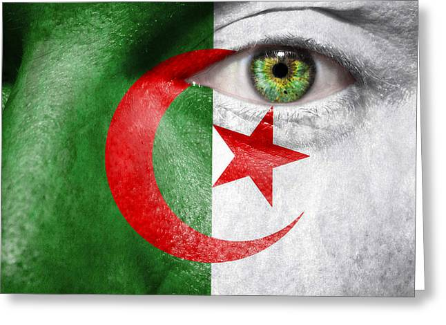 Fanatic Photographs Greeting Cards - Go Algeria Greeting Card by Semmick Photo