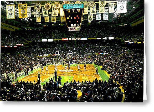 Go Celtics Greeting Card by David Schneider
