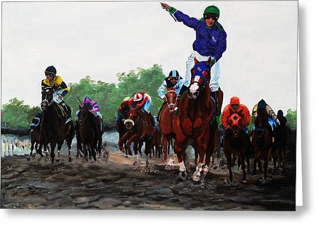 Galop Greeting Cards - Go Chrome Greeting Card by Judith Groeger