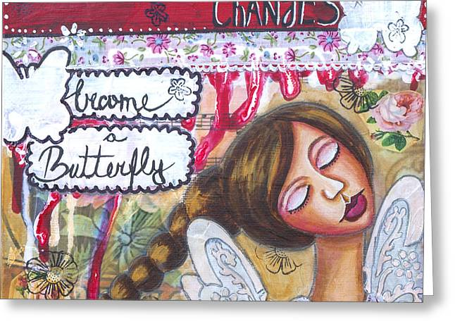 Discovery Mixed Media Greeting Cards - Go For Changes Inspirational Art Greeting Card by Stanka Vukelic