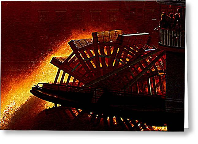 Go Fourth of July On The Mississippi River Aboard The Steam Boat Natchez In New Orleans Louisiana Greeting Card by Michael Hoard