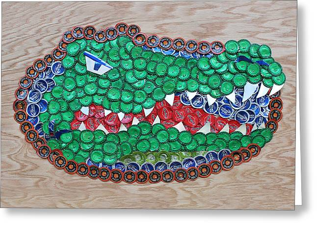 Florida Gators Mixed Media Greeting Cards - Go Gators  Greeting Card by Kay Galloway