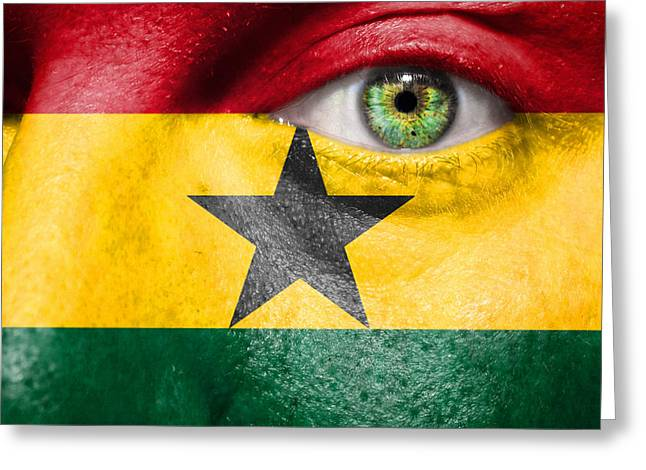 Citizens Greeting Cards - Go Ghana Greeting Card by Semmick Photo