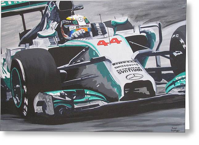 Go Lewis Go Greeting Card by Ronald Young