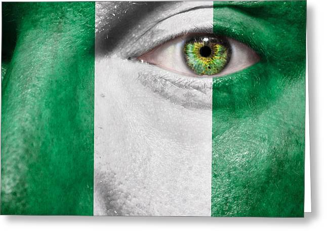 Citizens Greeting Cards - Go Nigeria Greeting Card by Semmick Photo