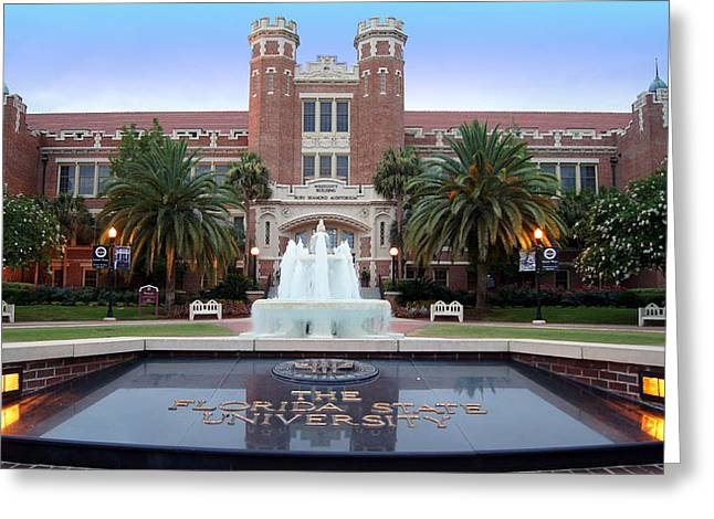 Nole Greeting Cards - Go Noles Greeting Card by Paul  Wilford