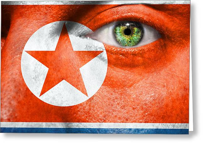 Provocation Greeting Cards - Go North Korea Greeting Card by Semmick Photo