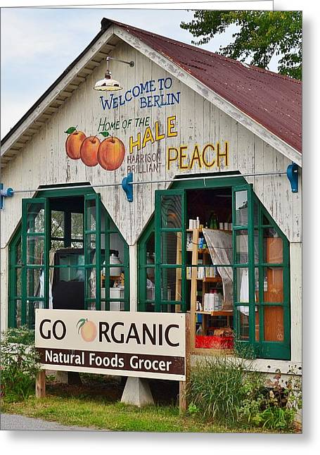 Grocery Store Greeting Cards - Go Organic Berlin Maryland Greeting Card by Kim Bemis