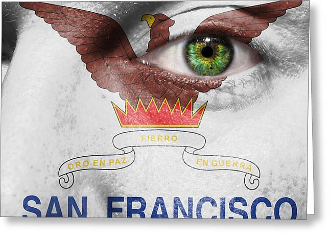 The Followers Photographs Greeting Cards - Go San Francisco Greeting Card by Semmick Photo