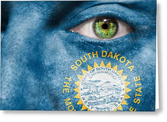 Dakota Fanning Greeting Cards - Go South Dakota Greeting Card by Semmick Photo