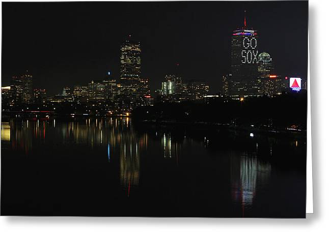 Beantown Greeting Cards - Go Sox Greeting Card by Juergen Roth