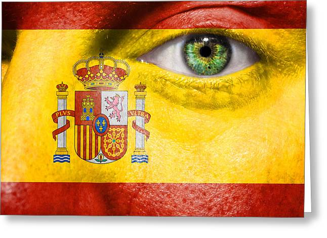 Euro 2012 Greeting Cards - Go Spain Greeting Card by Semmick Photo