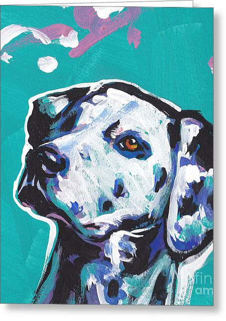 Dalmatian Greeting Cards - Go Spot Go Greeting Card by Lea