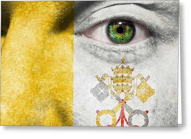 Sovereign Greeting Cards - Go Vatican Greeting Card by Semmick Photo