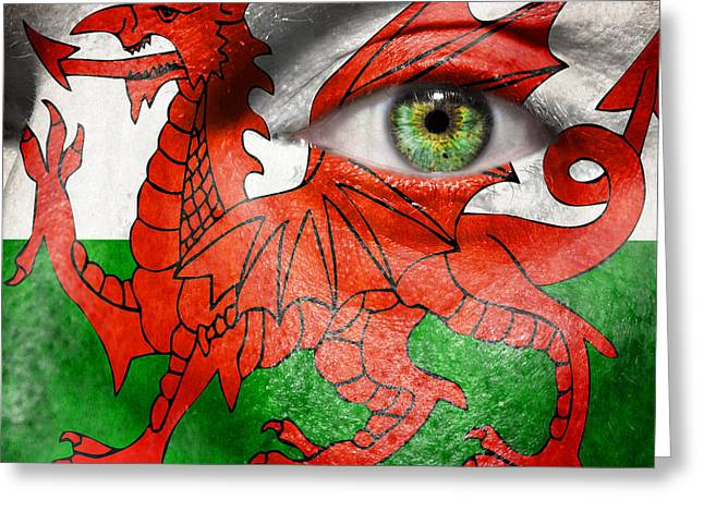 Dragon Concept Greeting Cards - Go Wales Greeting Card by Semmick Photo