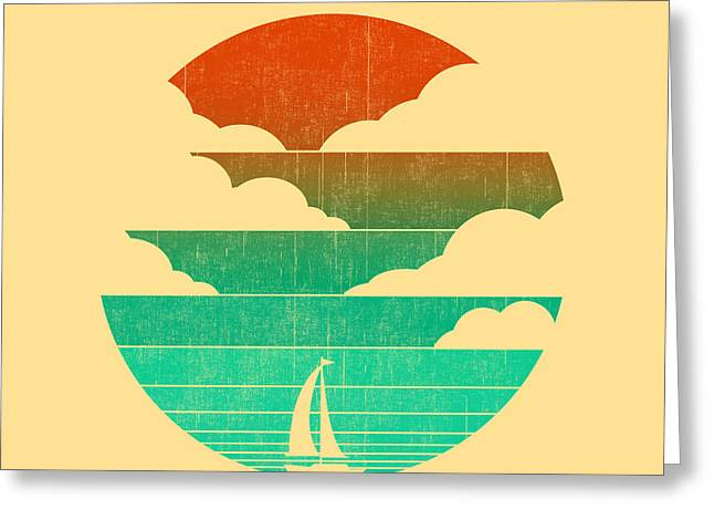 Rising Greeting Cards - Go west in your sailing boat Greeting Card by Budi Satria Kwan