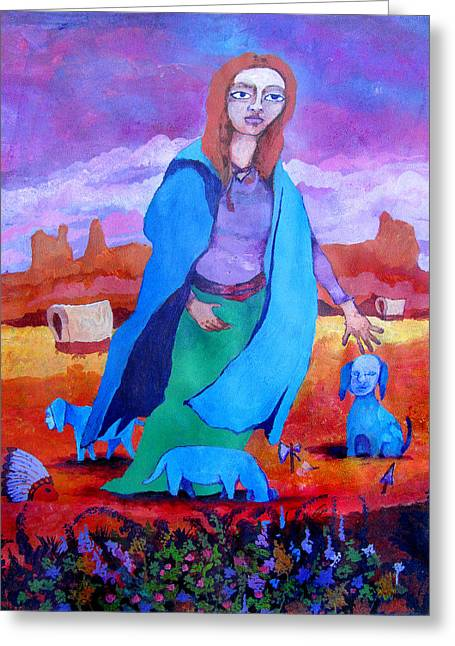 Purple Robe Greeting Cards - Go West Greeting Card by James Huntley