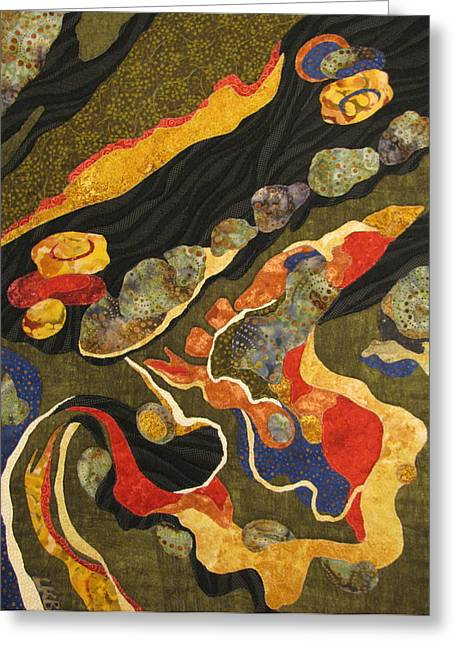 Go With The Flow Greeting Card by Lynda K Boardman