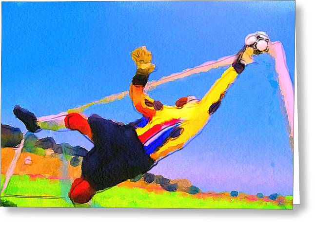 Stadium Design Digital Greeting Cards - Goal Keeper Greeting Card by Yury Malkov
