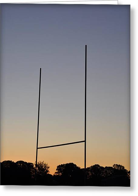 Goal Post Greeting Cards - Goal Posts at Sunrise Greeting Card by Bill Cannon