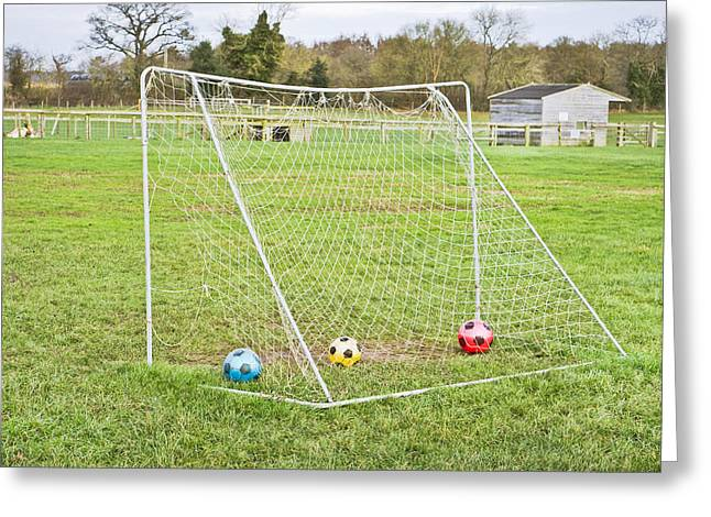 Goal Line Greeting Cards - Goal Greeting Card by Tom Gowanlock