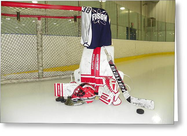 Goalie Greeting Card by Lisa Wooten