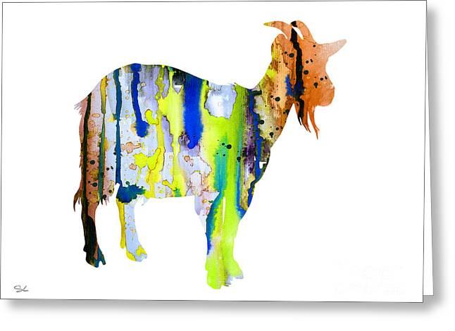 Farm Art Greeting Cards - Goat 3 Greeting Card by Luke and Slavi