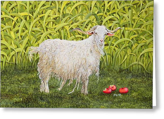 Mammals Greeting Cards - Goat Greeting Card by Ditz