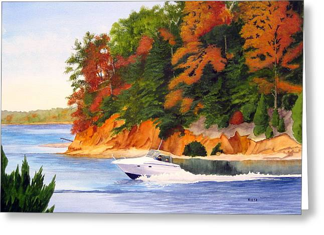 Lake Wylie Greeting Cards - Goat Island Greeting Card by Julia Rietz