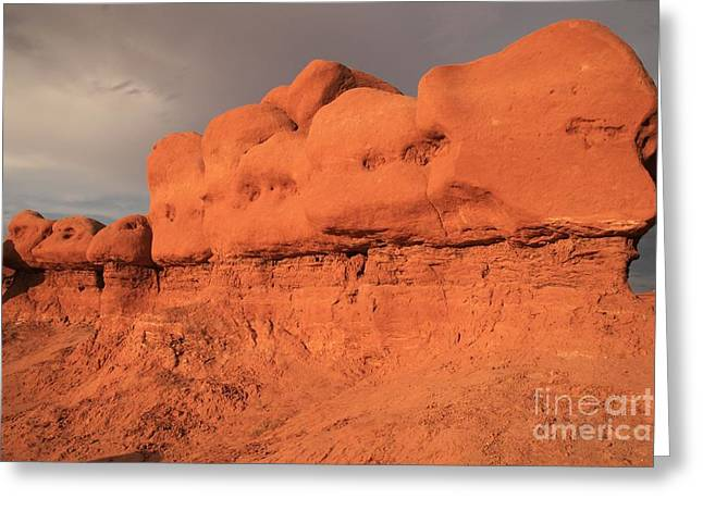 Goblin Valley State Park Greeting Cards - Goblin Train Greeting Card by Adam Jewell