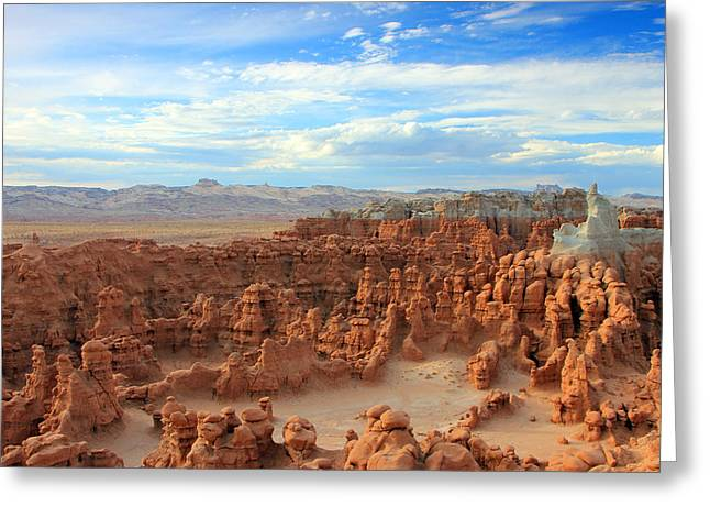 Surreal Landscape Greeting Cards - Goblin Valley Greeting Card by Johnny Adolphson