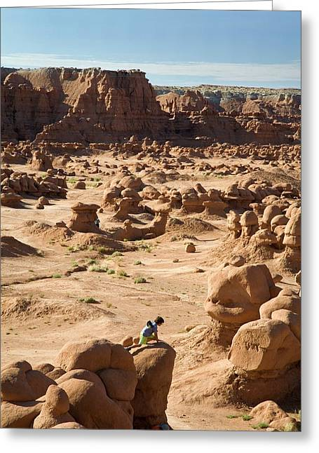 Goblin Valley State Park Greeting Card by Jim West
