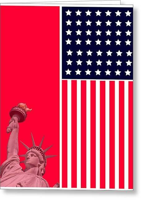 God Bless America Greeting Cards - God Bless America Greeting Card by Celestial Images
