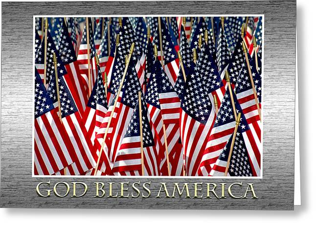 God Bless America Greeting Card by Carolyn Marshall
