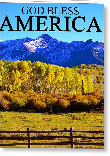 God Bless America Greeting Cards - God Bless America Greeting Card by David Lee Thompson