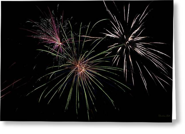 God Bless America Fireworks Greeting Card by Christina Rollo