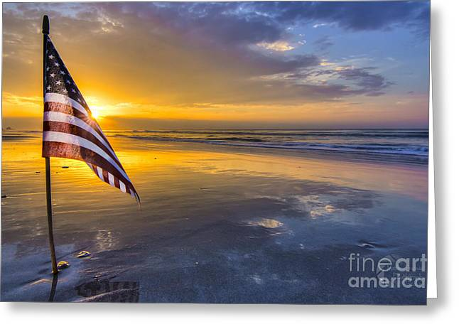 God Bless America Greeting Cards - God Bless America Greeting Card by Matthew Trudeau